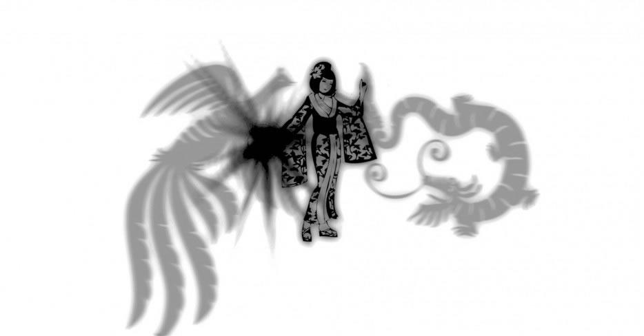 la perle de nacre, la princesse, le dragon et le phenix.