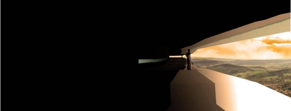 gergovie perspective intérieure maison d'interprétation