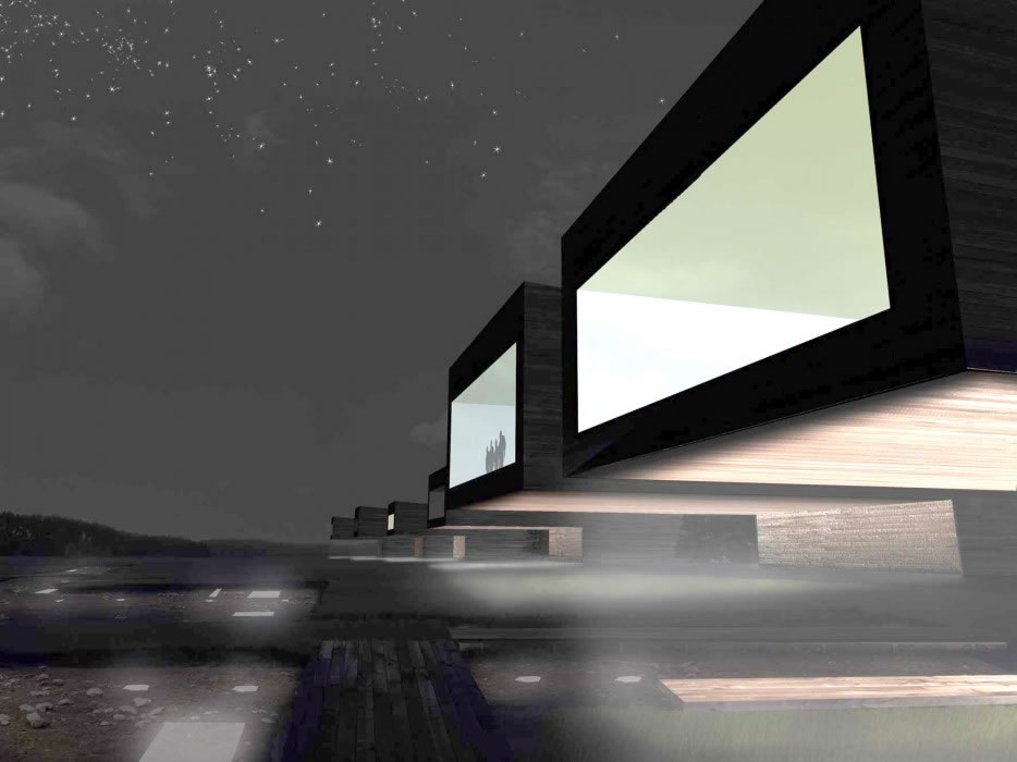 gondole perspective de nuit