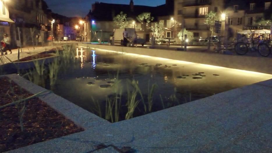 le jardin d'eau de nuit