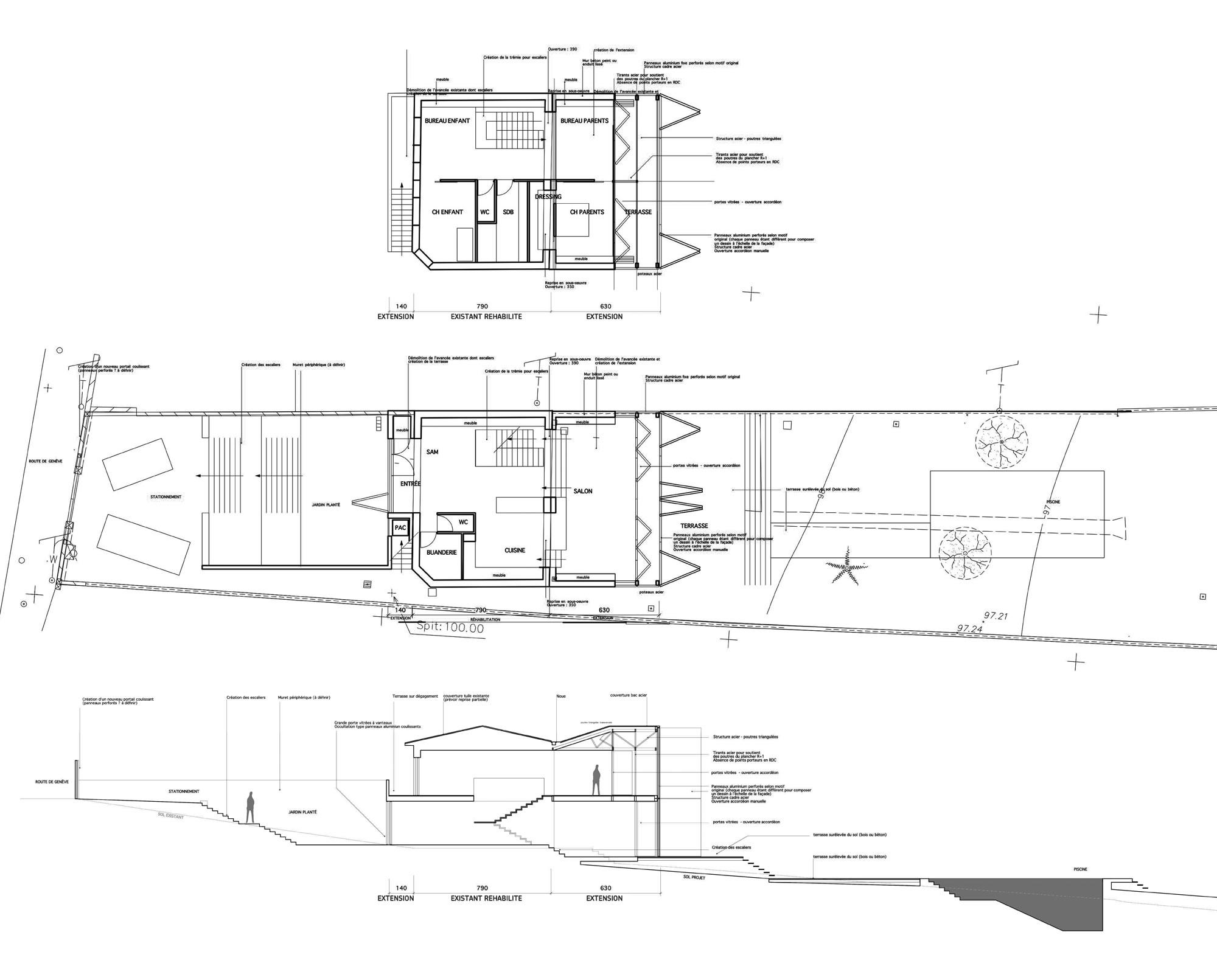 Plan complet maison maison plan 3d plan du0027une for Plan complet maison
