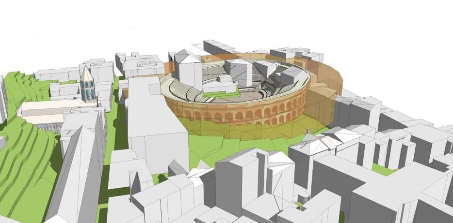 simulation 3D de l'amphithéatre in situ 2